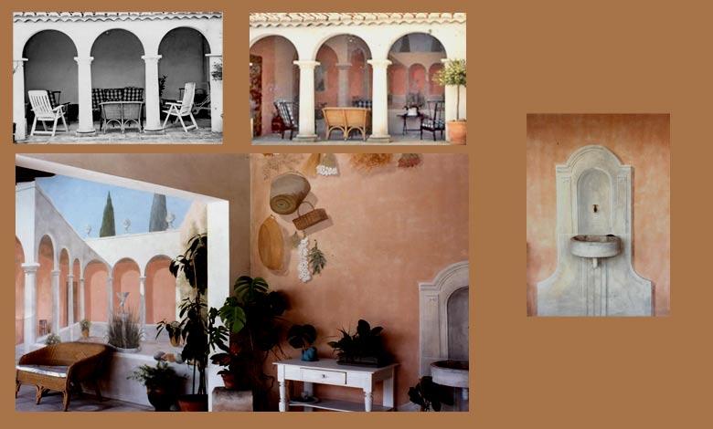 fresques peintures trompe l 39 oeil de marielle bonnefoi. Black Bedroom Furniture Sets. Home Design Ideas